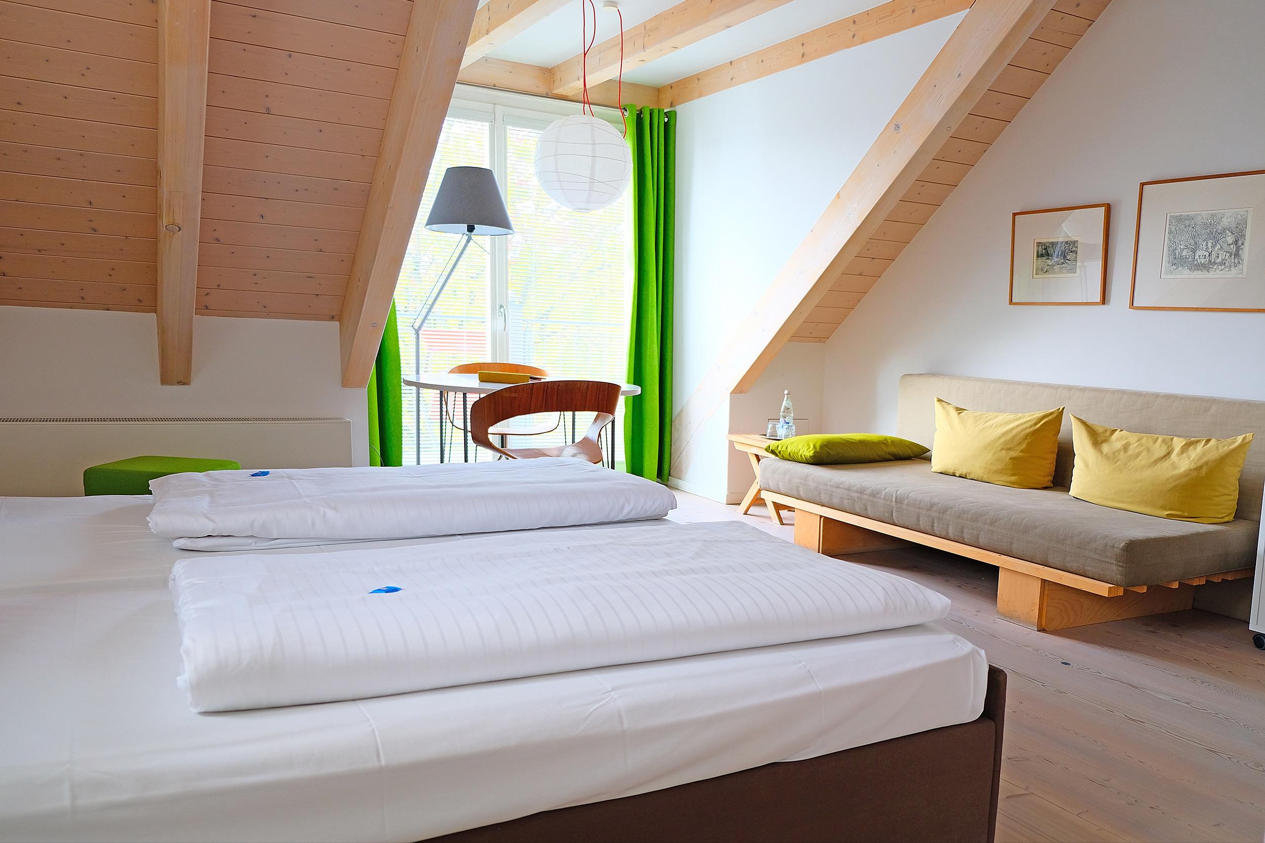 Doppelzimmer Goldfuchs mit Balkon im Fuchsbräu